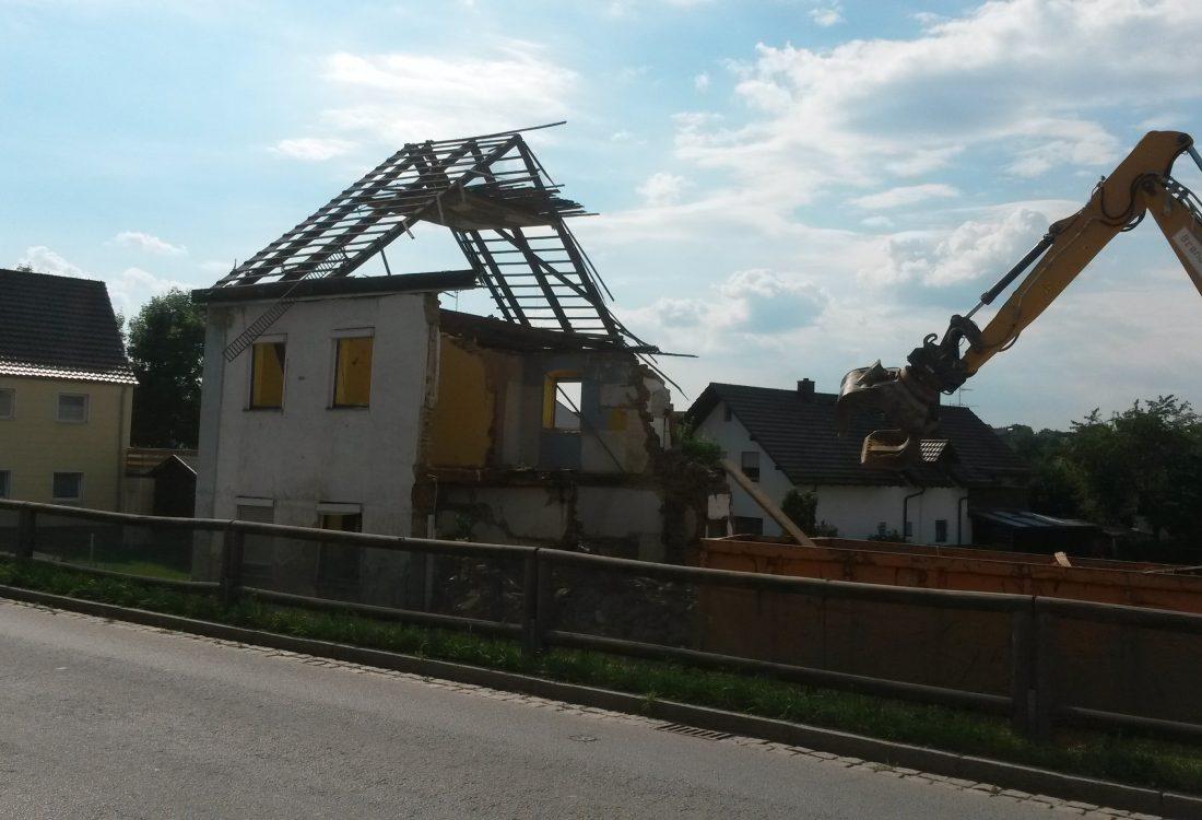 Abbruch Wohnhaus, Arnstorf