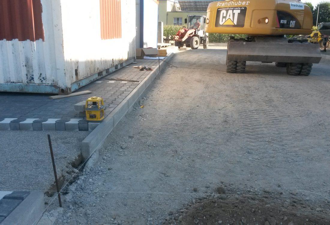Neubau Außenanlagen und Rigolen-Einbau, Penny Markt, Altötting