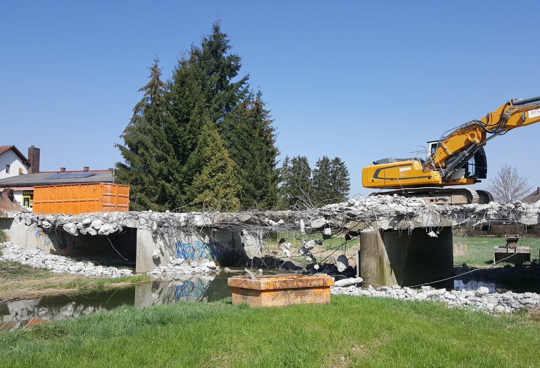 Abbruch Brücke, Malgersdorf