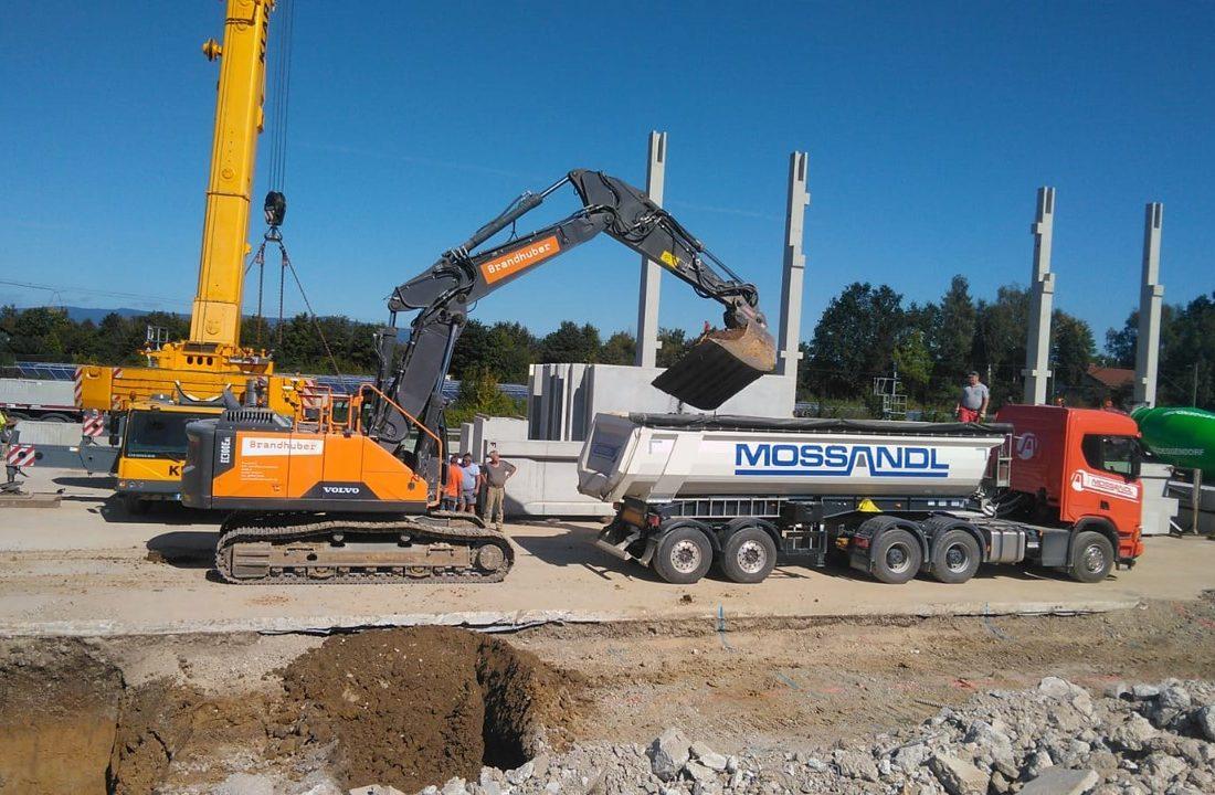 Abbruch und Neubau Kranbahn Straßkirchen mit 3D- Steuerung
