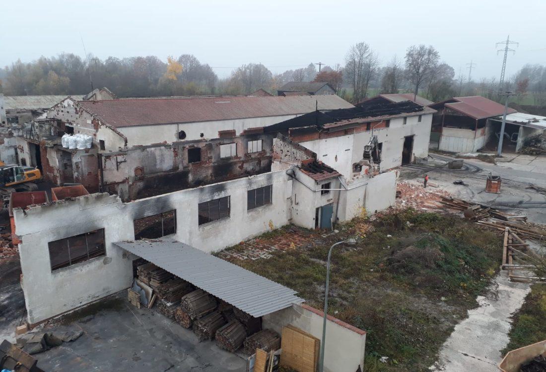 Abbruch alte Ziegelei in Moosburg