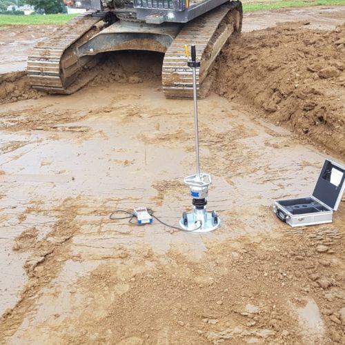 Neu: dynamischer Lastplattendruckversuch auf der Baustelle